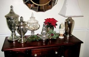 Mercury glass Christmas