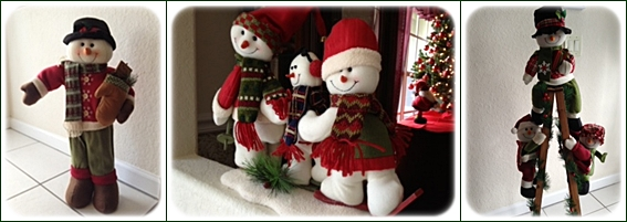 snowmen in entry